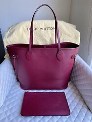 Discontinued Louis Vuitton Neverfull Mm In Fuchsia Epi Leather Rrp3250