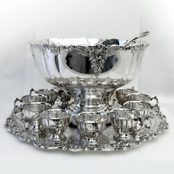 Baroque Punch Bowl Set Wallace Silverplate