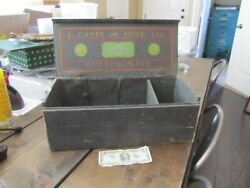 1930s Antique J. Capps And Sons Ltd Clothes General Store Display Box Vtg Rare