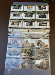 Lot Of Caterpillar Collectible Cards, Post Cards, Etc In Binder W/dividers B17