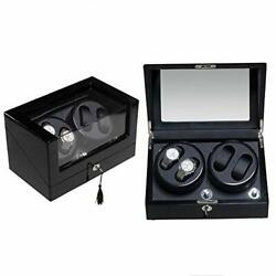 Watch Winder Box 4 + 0 For Automatic Watches Display Leather Storage Piano Paint