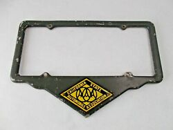 1930and039s Era Aaa California State Automobile Assoc. License Plate Frame Porcelain