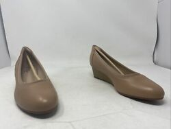 Clarks Womens Mallory Berry Praline Leather Pumps Size 9m Us