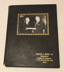 New Orleans Chamber Of Commerce 1959 Sumter D. Marks Signed Rare Photo