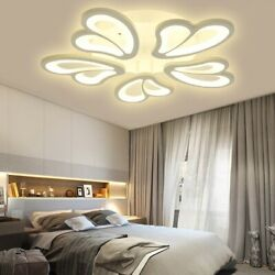 3 Heads Modern Ceiling Lamp+remote Control Living Room Bedroom Study Light