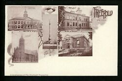New Jersey Nj Vintage Postcard Freehold , High School Library Church Multiview