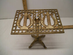 Brass Metal Music Stand Photo Stand Table Top Stand 4 1/2 H X 5 1/4 W