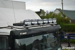 Roof Bar + Leds + Led Spots S For Daf Xf 95 Space Cab Truck Lamp Stainless Steel