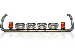 Roof Bar+leds+led Spots+amber Beacons For Scania P G R 6 2009+ Topline Cab Top