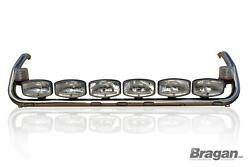 Roof Bar + Leds + Led Spots S + Clear Beacon For Scania 4 Topline Cab Truck Top