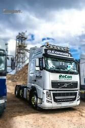 Roof Bar + Led Spots S + Beacons For Volvo Fh Series 2 And 3 Globetrotter Standard