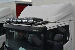 Roof Bar + Leds + Led Spots S For Daf Xf 105 Space Black Truck Stainless Steel
