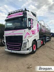 Roof Bar Black + Leds + Led Spots + Clear Beacons For Volvo Fmx 13 - 21 Day