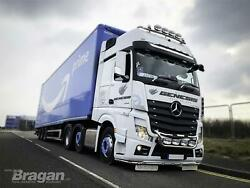 Roof Bar+leds+led Spots+clear Beacon For Mercedes Arocs Bigspace Cab Stainless