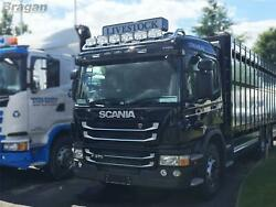 Roof Bar + Led Spots S For Scania P G R Series Pre 09 Standard Sleeper Stainless