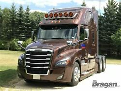 Roof Bar + Led Spots Lamps S For Freightliner Cascadia Tapered Stainless Steel