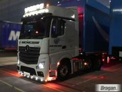 Roof Bar+leds+led Spots+clear Beacon For Mercedes Actros Mp4 Bigspace Cab Top