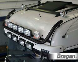 Roof Bar+leds+jumbo Led Spots+clear Beacon For Daf Xf 106 13+ Space Cab Black