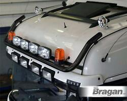 Roof Bar + Leds + Led Spots S + Amber Beacons For Daf Xf 106 13+ Space Cab Black