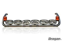 Roof Bar+leds+led Spots Lamps+amber Beacon For Scania P G R Pre 09 Topline Cab