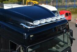 Roof Bar + Led Spots Lamp S For Daf Xf 106 2013+ Space Cab Truck Stainless Steel