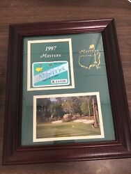 1997 Masters Badge Ticket Augusta National Golf Pga Tiger Woods Wins Very Rare