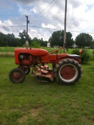 1948 B Allis Chalmers Tractor With Woods Belly Mower