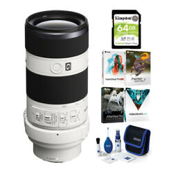 Sony Fe 70-200mm F/4.0 G Oss Lens With Software Suite And Accessory Bundle