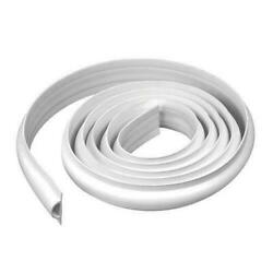 16and039 White Flexible Pvc Floating Roll In Stationary D Shape Dock Edging Bumper