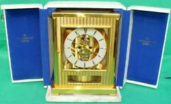 Jaeger Lecoultre Swiss Tuxedo Atmos Perpetual Motion Clock 61873 Serviced