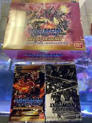 In Hand Digimon English Tcg Great Legend Booster Sealed New + Power And Dash Pack