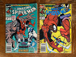 The Amazing Spider-man 344 345 1st App And Infection Cletus Kasady Marvel Comic