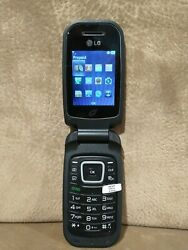 Lg Tracfone Black Camera Cellular Flip Phone Model Gplg440gb Works Perfect