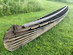 34 Foot Old Town Canoe Builders Form Strong Back Barn Kept For Over A Century