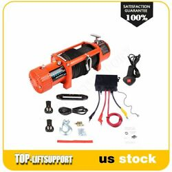 13000lbs 12v Electric Winch Synthetic Rope Towing Truck 4wd 12000lbs Waterproof