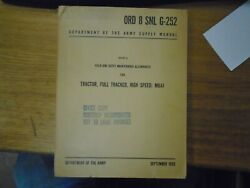 Ord 8 Snl G-252 Maintenance Manual Tractor, Full Tracked High Speed M8a1  1955