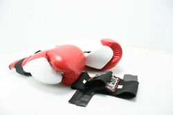 See Notes Ringside Heavy Hitter Sparring Boxing Gloves Red Leather Black Bands