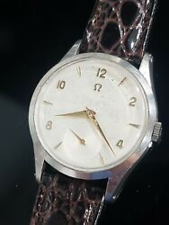 Omega Vintage Cal. 266 Ref. 2750-4 Rare 50s 35mm Swiss Menandrsquos Watch