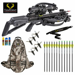 Tenpoint Havoc Rs440 Pro Package - Lighted Arrows And More - Graphite Gray