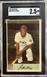 1954 Bowman 89 Willie Mays Graded Sgc 2.5 Gd+ Vintage Hall Of Fame Goat Giants