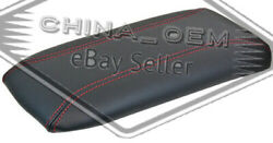 Center Console Lid Armrest For Ford Explorer Mountaineer Black/red Stitch
