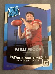 2017 Donruss Patrick Mahomes Rated Rookie Silver Press Proof /100 Kc Chiefs Ding