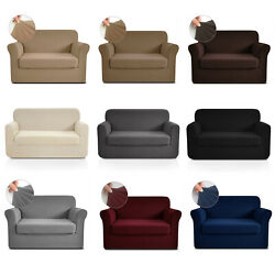 2 Pcs Love Seat Cover For Couches And Loveseats With Separate Cushion Slipcover