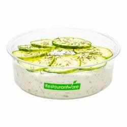 Basic Nature 8 Ounce Deli Containers 500 Compostable Meal Prep Containers - L...
