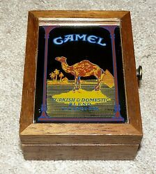 Vintage Camel Cigarette Advertising Lighters And Wood Box