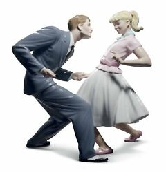 Lladro Letand039s Swing Couple Figurine. Limited Edition 01008752
