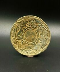 Ancient Indo Scythian Cultures Engraved Decorated Figures Schist Stone Plate
