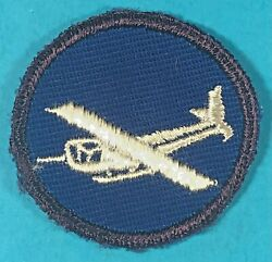 World War 2, Os Cap Glider Medical Badge, Us Made, Emb. On Twill, Exc. Cond, 2