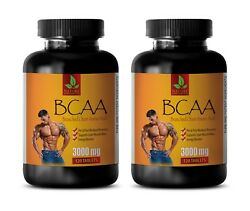 Muscle Gain - Bcaa 3000mg - Pre Workout Supplements - 2 Bottles
