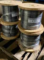 New 1/0 Awg Copper Thhn Black 1000' Reels Feet Building Wire 19 Strands 600v